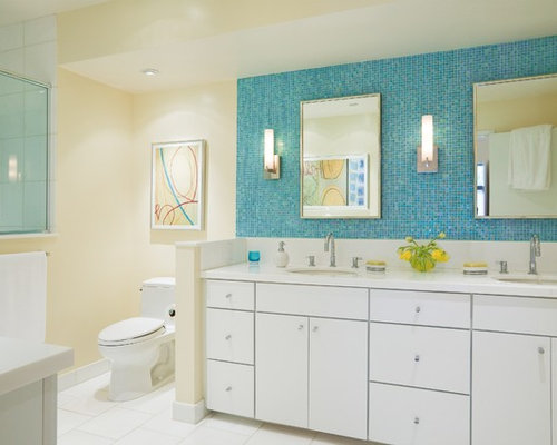 White Double Vanity Home Design Ideas Pictures Remodel