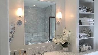 Montecito Carrara Marble Master Bathroom
