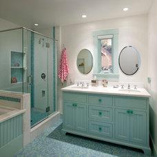 Transitional Bathroom by Giffin & Crane General Contractors, Inc.