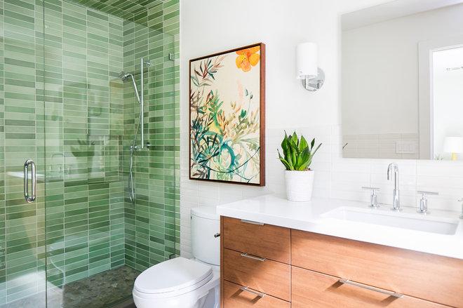 Midcentury Bathroom by Tracy Lynn Studio