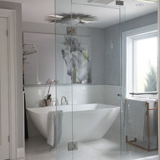 Transitional Bathroom by Emily Griffin Design