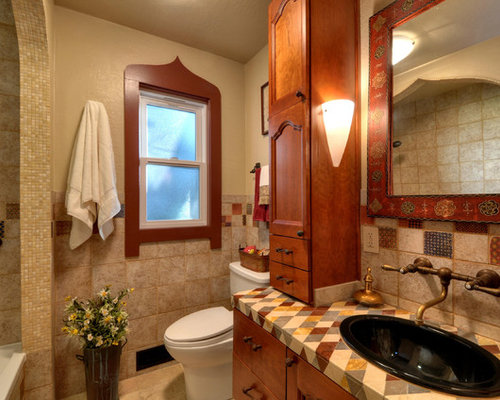 Small Mediterranean Bathroom Design Ideas Renovations Photos