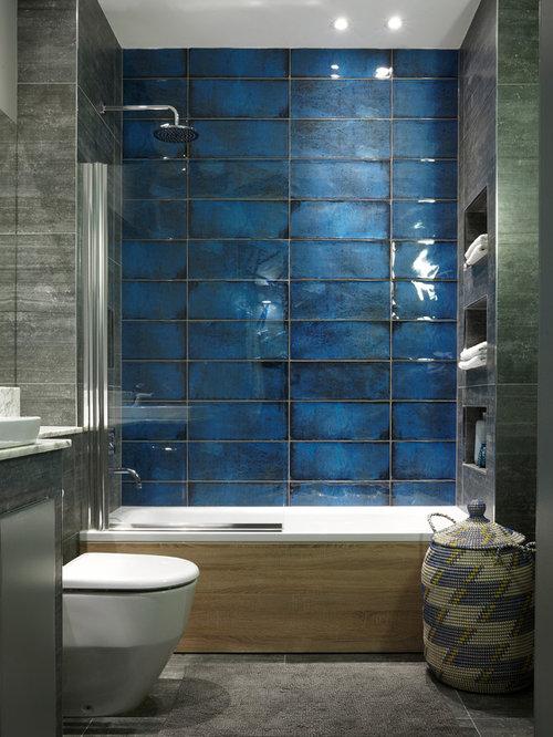 Contemporary Bathroom In Edinburgh With An Alcove Bath A Shower Bath