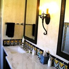 Mediterranean Bathroom by Latin Accents, Inc.