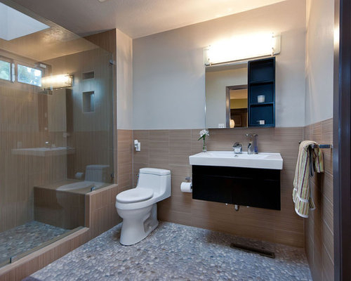 Best pebble tiles bathroom design ideas remodel pictures - Exemple de salle de bain zen ...