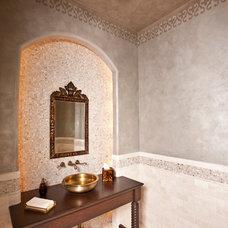 Mediterranean Bathroom by Anything But Plain, Inc.