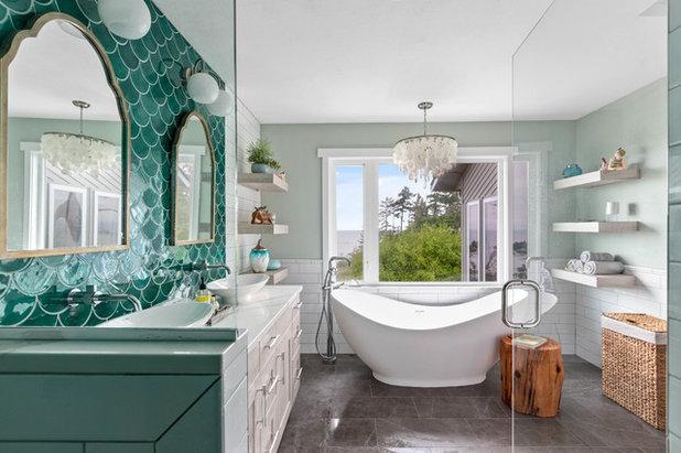 Beach Style Bathroom by Treefrog Design