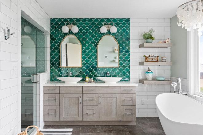 Beach Style Bathroom by Tree Frog Design