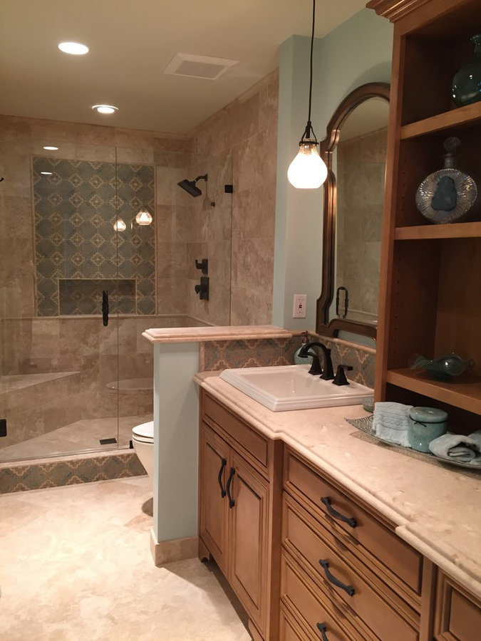 Moroccan Style Master Bathroom in Torrance