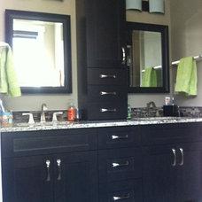 Contemporary Bathroom by Michelle Yaworski – Gem Cabinets Ltd