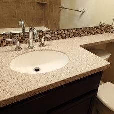 Transitional Bathroom by Tinkermen's Construction, Inc.