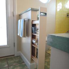 Tropical Bathroom by Strobel Design Build