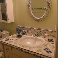 Eclectic Bathroom by Barbara Stock Interior Design