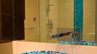 MOSAIQUE Vessel Sink and MOSAIQUE Accent Tile