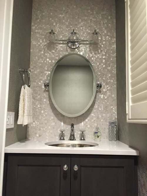 Mother Of Pearl Bathroom Vanity Backsplash