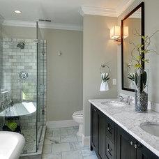 Craftsman Bathroom by LimeLite Development
