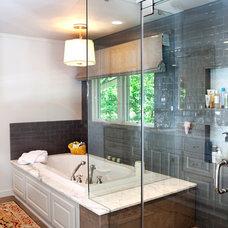 Traditional Bathroom by Yellow Door Design