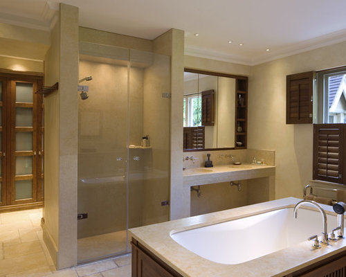 Ensuite shower home design ideas renovations photos for Ensuite bathroom ideas design