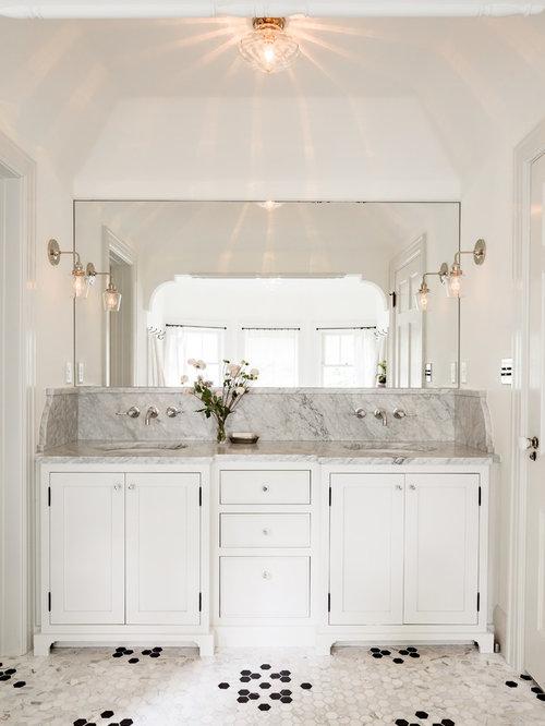 Bathroom tile jessica helgerson black white tile