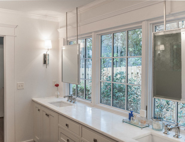 Transitional Bathroom by Christopher Architecture & Interiors