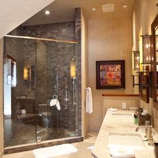 Contemporary Bathroom by Laura Abrams Design