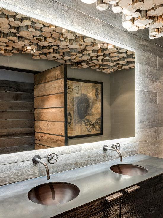 31 Rustic Restaurant Bathroom Design Photos