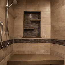 Rustic Bathroom by YK Stone Center Inc.