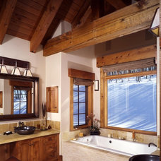 Rustic Bathroom by Copper Creek Homes, LLC