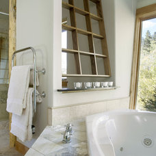 Rustic Bathroom by Design Build Team Inc