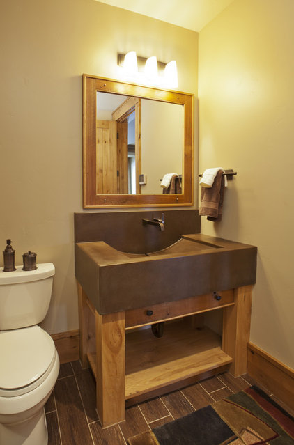 Contemporary Bathroom by Lynne Barton Bier - Home on the Range Interiors