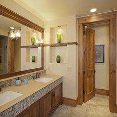 Contemporary Bathroom by Lynne Barton Bier - Home on the Range Interiors