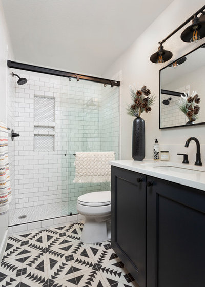 Transitional Bathroom by Jess Blackwell Photography