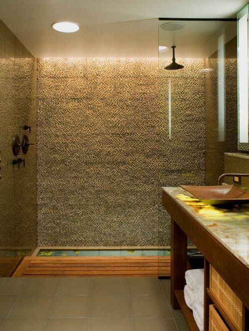 badezimmer mit onyx waschbecken waschtisch ideen design bilder houzz. Black Bedroom Furniture Sets. Home Design Ideas