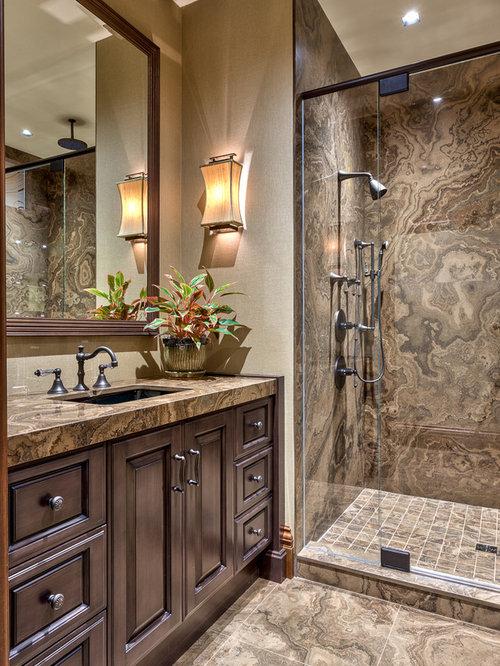 Tan Brown Granite Vanity | Houzz on Bathroom Ideas With Black Granite Countertops  id=75996