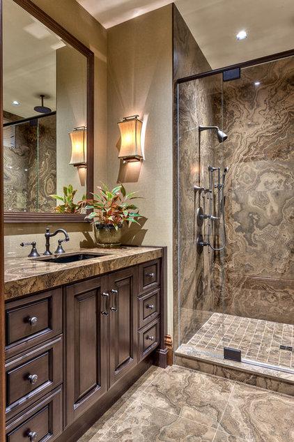 Rustic Bathroom by ACM Design