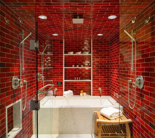 Contemporaneo Stanza da Bagno by Anne Sneed Architectural Interiors