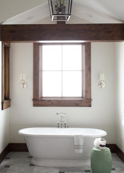 Rustic Bathroom by Bonnie Wu Design, LLC