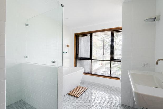 Midcentury Bathroom by Benedict Design