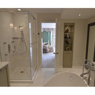 Идея дизайна: ванная комната в стиле шебби-шик