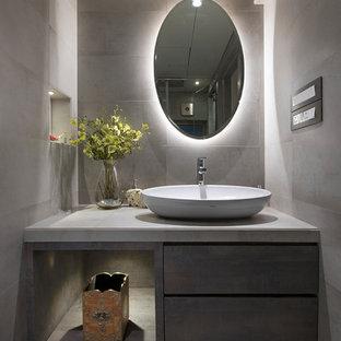 Salle de bain avec une vasque Inde : Photos et idées déco de salles ...