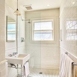 Craftsman curbless shower bathroom design ideas pictures remodel decor - Craftsman bathroom design ...