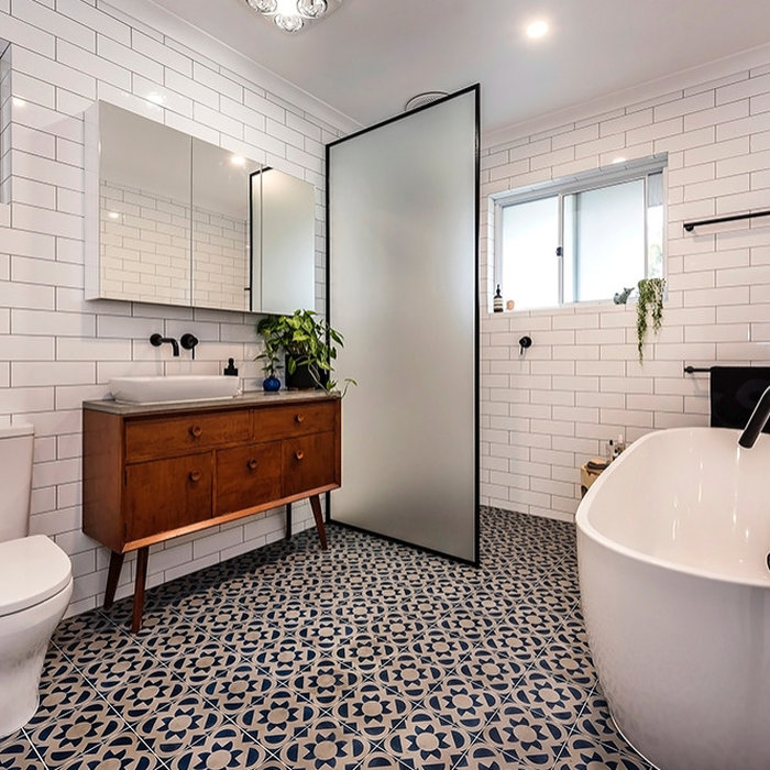 Sleek Bathroom with Vintage Touch