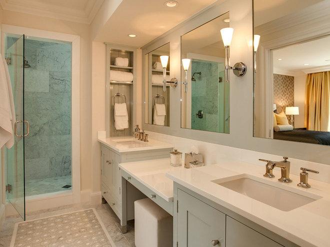 Transitional Bathroom by KGA Studio Architects