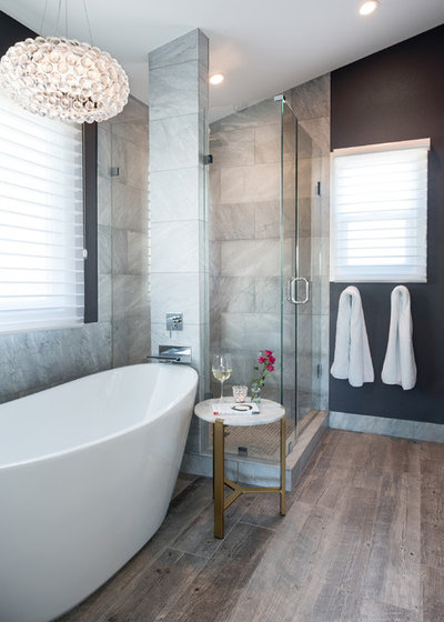 Transitional Bathroom by Oliver Designs