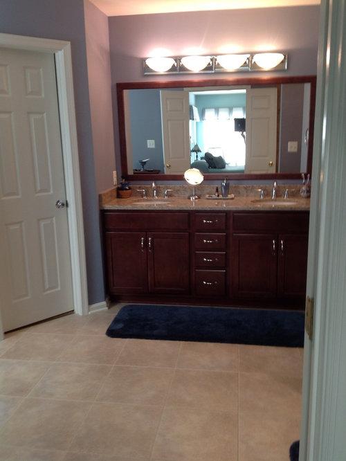 Mirror with custom wood trim bathroom design ideas - Decorative trim for bathroom mirrors ...