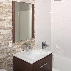 Contemporary Bathroom by Tile Depot NY