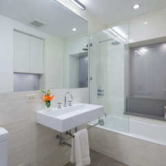 contemporary bathroom by I-Beam Design