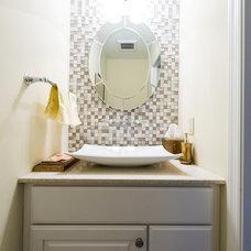 Transitional Bathroom by Case Design/Remodeling, Inc.