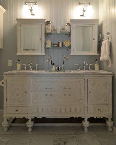 12 id es d co pour une jolie salle de bains campagne - Meuble salle de bain style campagne ...