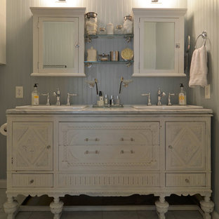 Inspiration for a shabby-chic style bathroom remodel in Austin